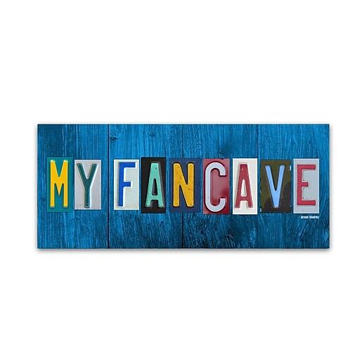 """Trademark Fine Art ''My Fan Cave'' by Design Turnpike 10"""" x 24"""" Canvas Art (ALI1310-C1024GG)"""