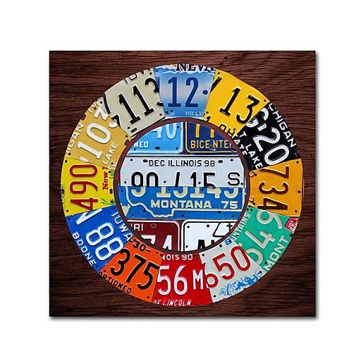 """Trademark Fine Art ''Clock Square'' by Design Turnpike 18"""" x 18"""" Canvas Art (ALI1312-C1818GG)"""