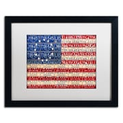 """Trademark Fine Art ''Betsy Ross Flag'' by Design Turnpike 16"""" x 20"""" White Matted Black Frame (ALI1313-B1620MF)"""