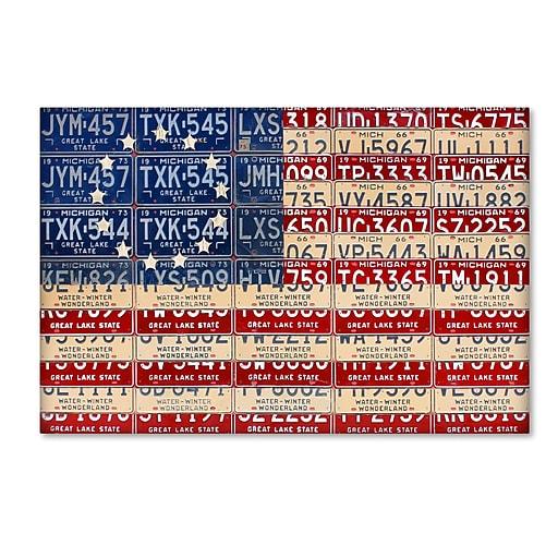 "Trademark Fine Art ''Betsy Ross Flag'' by Design Turnpike 30"" x 47"" Canvas Art (ALI1313-C3047GG)"