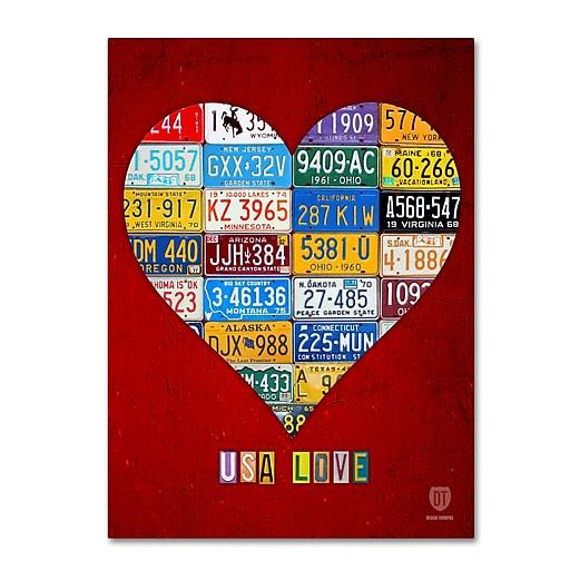 "Trademark Fine Art ''Heart'' by Design Turnpike 14"" x 19"" Canvas Art (ALI1317-C1419GG)"
