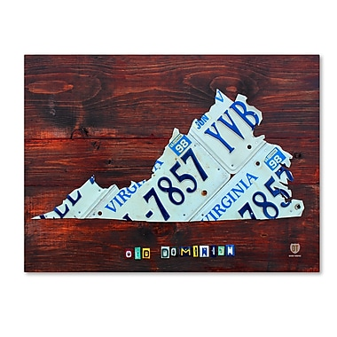 Trademark Fine Art ''Virginia License Plate Map Large'' by Design Turnpike 18