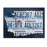 Trademark Fine Art Washington License Plate Map By Design Turnpike 18 X 24 Canvas Art Ali1325 C1824gg At Staples