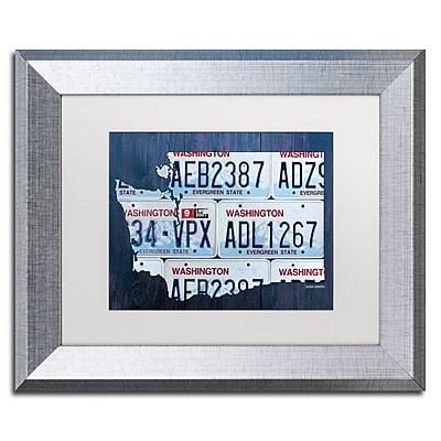 Trademark Fine Art ''Washington License Plate Map'' by Design Turnpike 11