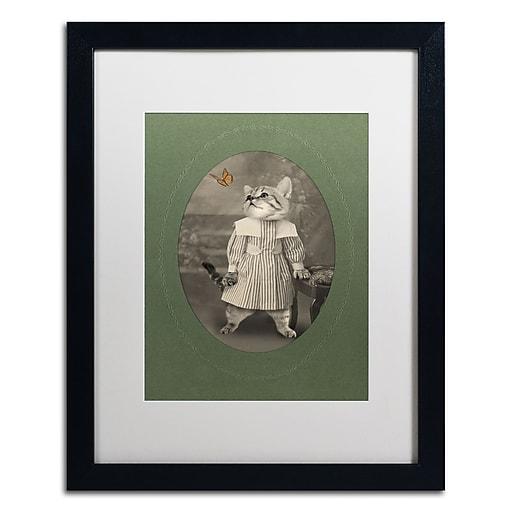 "Trademark Fine Art ''Cat Series #2'' by J Hovenstine Studios 16"" x 20"" White Matted Black Frame (ALI1331-B1620MF)"