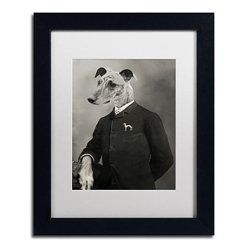 "Trademark Fine Art ''Dog Series #6'' by J Hovenstine Studios 11"" x 14"" White Matted Black Frame (ALI1337-B1114MF)"