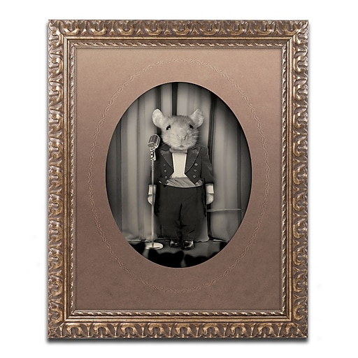 "Trademark Fine Art ''Mice Series #1'' by J Hovenstine Studios 16"" x 20"" Ornate Frame (ALI1338-G1620F)"