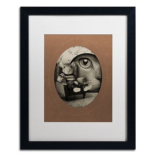 "Trademark Fine Art ''Mice Series #3'' by J Hovenstine Studios 16"" x 20"" White Matted Black Frame (ALI1342-B1620MF)"