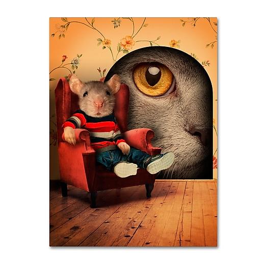 "Trademark Fine Art ''Mice Series #3.5'' by J Hovenstine Studios 18"" x 24"" Canvas Art (ALI1343-C1824GG)"
