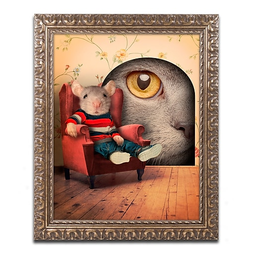 "Trademark Fine Art ''Mice Series #3.5'' by J Hovenstine Studios 11"" x 14"" Ornate Frame (ALI1343-G1114F)"