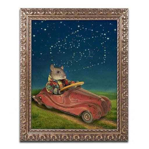"Trademark Fine Art ''Mice Series #5.5'' by J Hovenstine Studios 16"" x 20"" Ornate Frame (ALI1347-G1620F)"