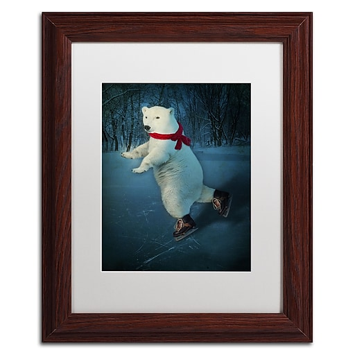 """Trademark Fine Art ''By The Light Of The Moon'' by J Hovenstine Studios 11"""" x 14"""" White Matted Wood Frame (ALI1360-W1114MF)"""