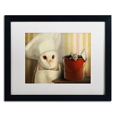"Trademark Fine Art ''Mice Series #8'' by J Hovenstine Studios 16"" x 20"" White Matted Black Frame (ALI1363-B1620MF)"