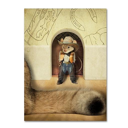"Trademark Fine Art ''New Mouse In Town'' by J Hovenstine Studios 24"" x 32"" Canvas Art (ALI1364-C2432GG)"