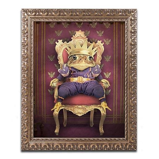 "Trademark Fine Art ''The Frog Prince'' by J Hovenstine Studios 16"" x 20"" Ornate Frame (ALI1365-G1620F)"