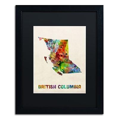 Trademark Fine Art ''British Columbia Watercolor Map'' by Michael Tompsett 16