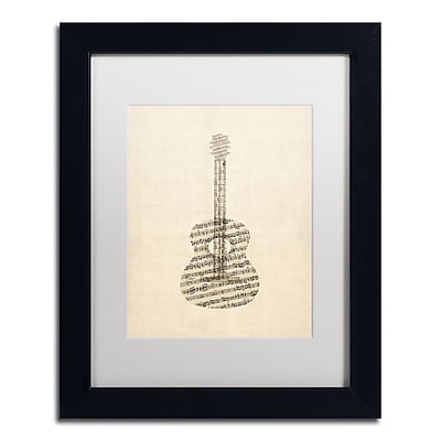 Trademark Fine Art ''Acoustic Guitar Old Sheet Music'' by Michael Tompsett 11