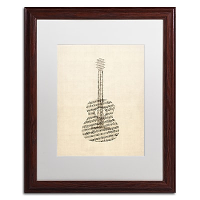 Trademark Fine Art ''Acoustic Guitar Old Sheet Music'' by Michael Tompsett 16
