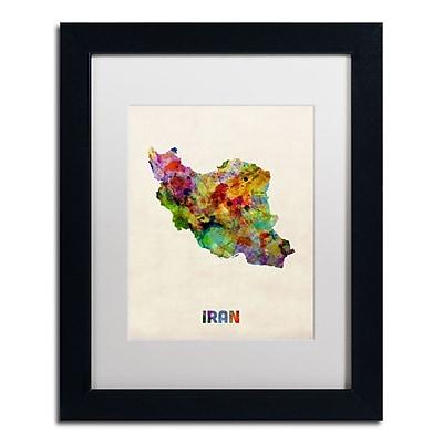 Trademark Fine Art ''Iran Watercolor Map'' by Michael Tompsett 11