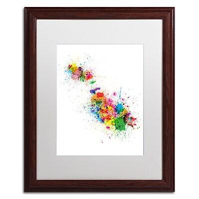 Trademark Fine Art ''Malta Map Paint Splashes'' by Michael Tompsett 16
