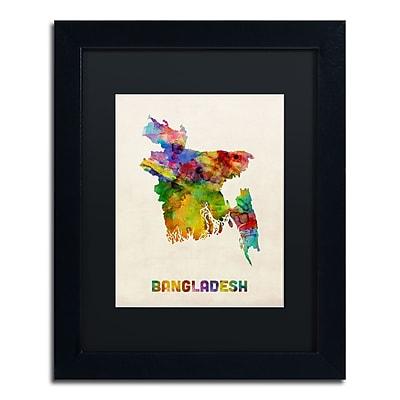 Trademark Fine Art ''Bangladesh Watercolor Map'' by Michael Tompsett 11