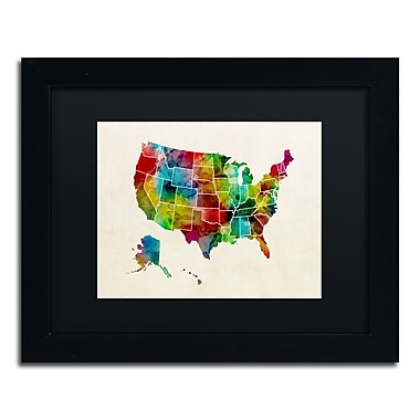 Trademark Fine Art ''United States Watercolor Map 2'' by Michael Tompsett 11