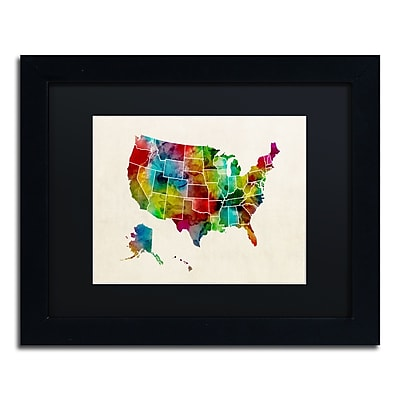Trademark Fine Art ''United States Watercolor Map 2'' by Michael Tompsett 11