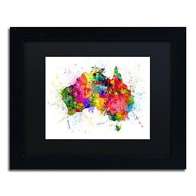 Trademark Fine Art ''Australia Paint Splashes Map'' by Michael Tompsett 11