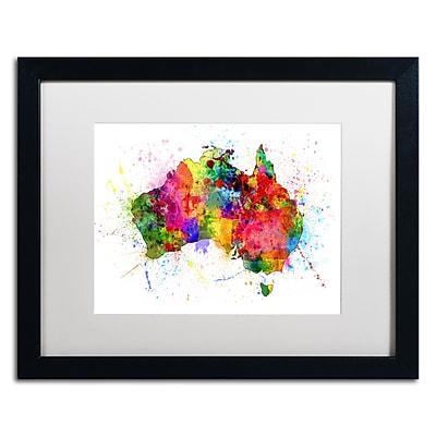 Trademark Fine Art ''Australia Paint Splashes Map'' by Michael Tompsett 16