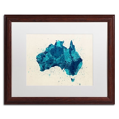 Trademark Fine Art ''Australia Paint Splashes Map 2'' by Michael Tompsett 16