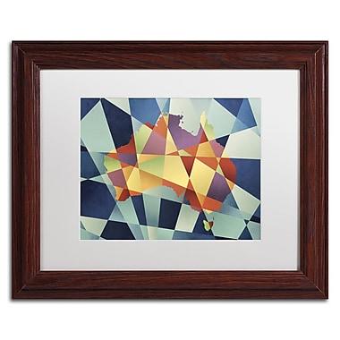 Trademark Fine Art ''Australia Geometric Retro Map'' by Michael Tompsett 11