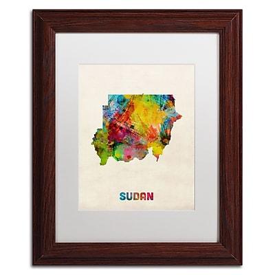 Trademark Fine Art ''Sudan Watercolor Map'' by Michael Tompsett 11