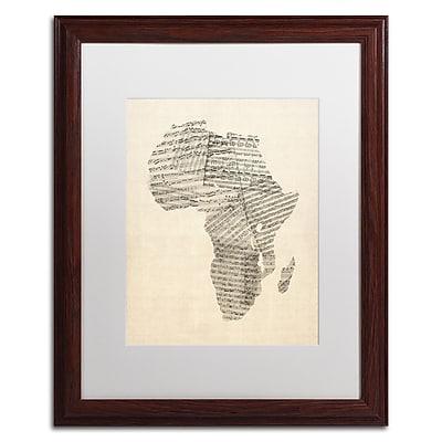 Trademark Fine Art ''Old Sheet Music Map of Africa'' by Michael Tompsett 16
