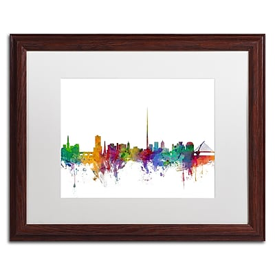 Trademark Fine Art ''Dublin Ireland Skyline'' by Michael Tompsett 16