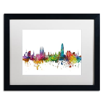 Trademark Fine Art ''Barcelona Spain Skyline'' by Michael Tompsett 16