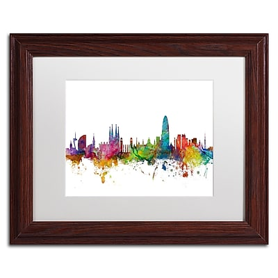 Trademark Fine Art ''Barcelona Spain Skyline'' by Michael Tompsett 11