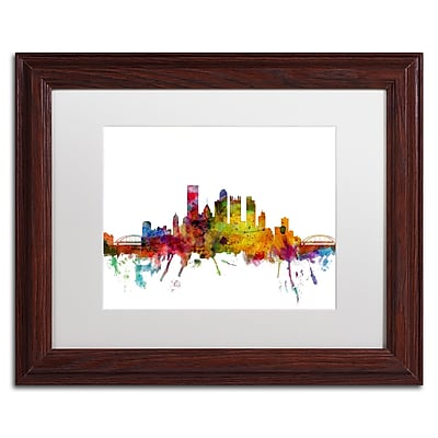 Trademark Fine Art ''Pittsburgh Pennsylvania Skyline'' by Michael Tompsett 11