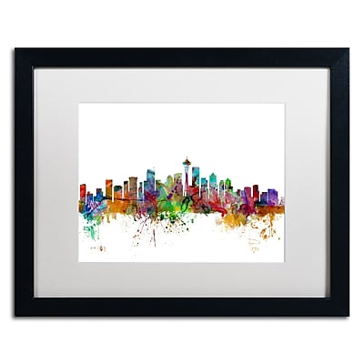 Trademark Fine Art ''Seattle Washington Skyline'' by Michael Tompsett 16