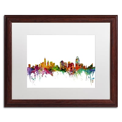 Trademark Fine Art ''Cincinnati Ohio Skyline'' by Michael Tompsett 16