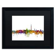 "Trademark Fine Art ''Washington DC Skyline II'' by Michael Tompsett 16"" x 20"" Black Matted Black Frame (MT0553-B1620BMF)"