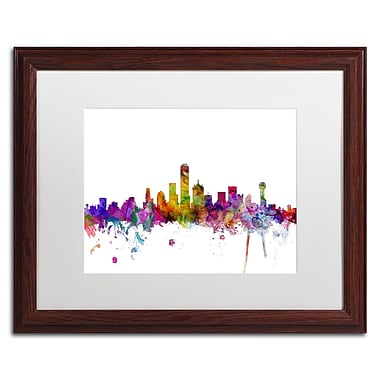 Trademark Fine Art ''Dallas Texas Skyline'' by Michael Tompsett 16