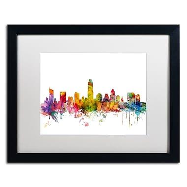 Trademark Fine Art ''Austin Texas Skyline'' by Michael Tompsett 16