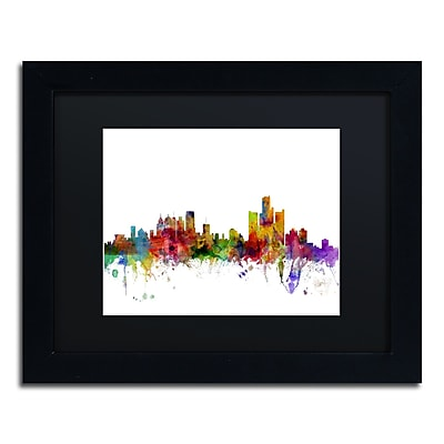 Trademark Fine Art ''Detroit Michigan Skyline'' by Michael Tompsett 11