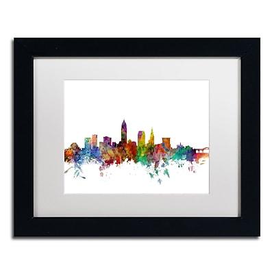 Trademark Fine Art ''Cleveland Ohio Skyline'' by Michael Tompsett 11