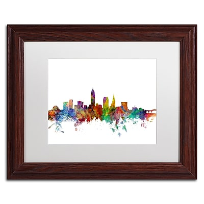 Trademark Fine Art ''Cleveland Ohio Skyline'' by Michael Tompsett 11