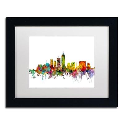 Trademark Fine Art ''Indianapolis Indiana Skyline'' by Michael Tompsett 11