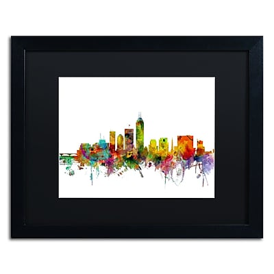 Trademark Fine Art ''Indianapolis Indiana Skyline'' by Michael Tompsett 16