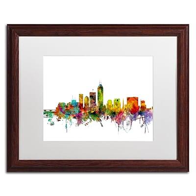 Trademark Fine Art ''Indianapolis Indiana Skyline'' by Michael Tompsett 16