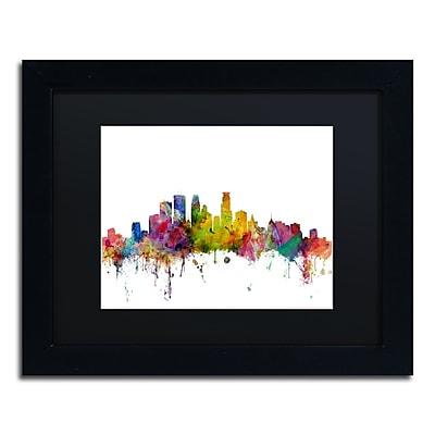 Trademark Fine Art ''Minneapolis Minnesota Skyline'' by Michael Tompsett 11