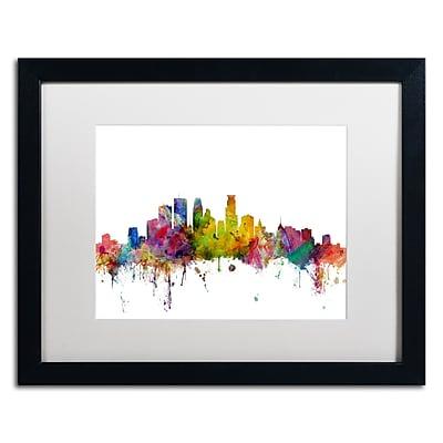 Trademark Fine Art ''Minneapolis Minnesota Skyline'' by Michael Tompsett 16